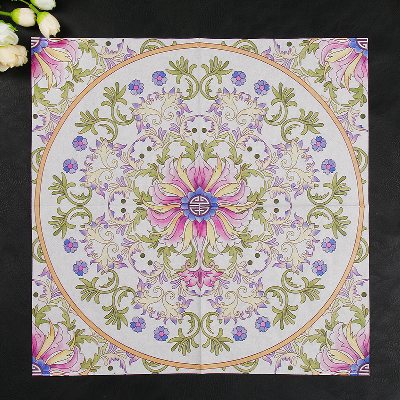 Pink Flesh Totem Design Paper Napkins Cafe & Party Tissue Napkins Decoupage Decoration Paper 33cm*33cm 20pcs/pack/lot