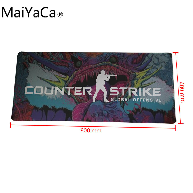 MaiYaCa XL900*400 MM 900*300 MM Hyper beast CS:GO Mouse pad Counter Strike: Global Offensive Table Mat For PC Laptop Mouse