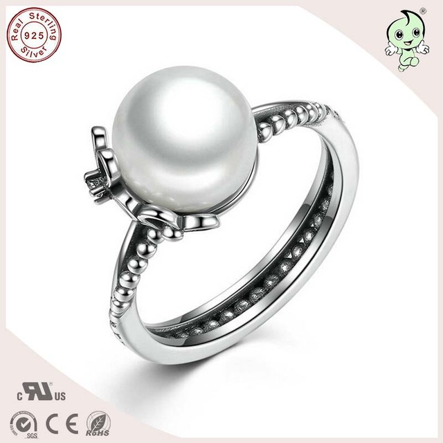 New Arrival Good Quality Delicate 925 Pure Silver Pearl Wedding Ring ...