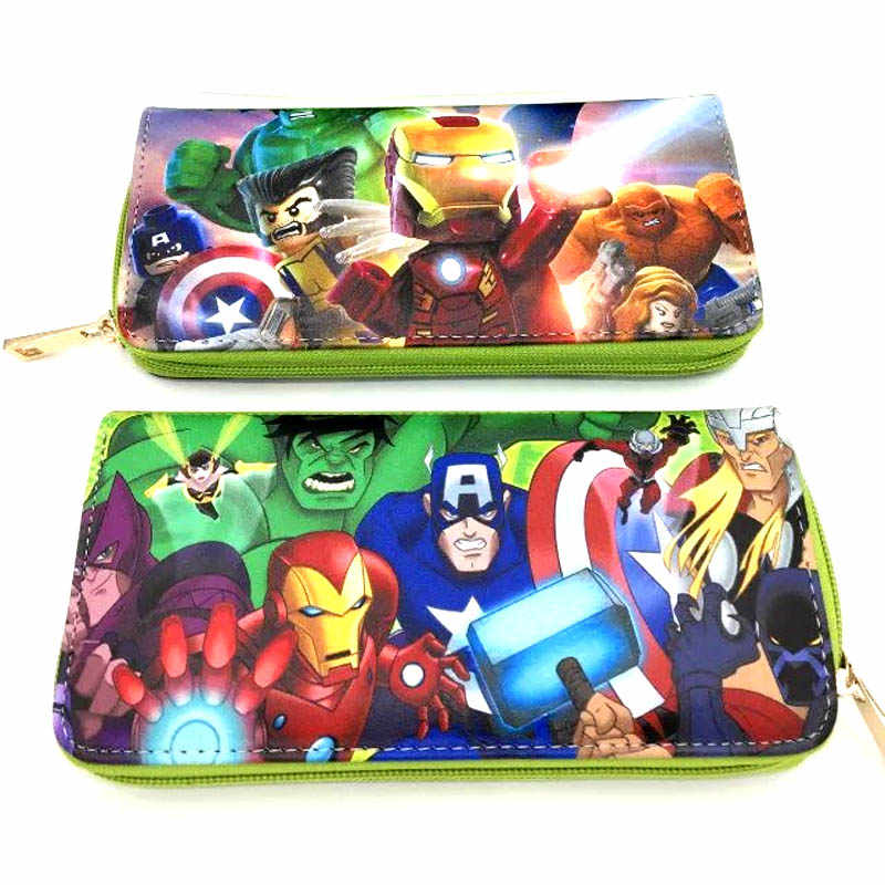 wallet marvel avengers Clutch/Long Wallet Captain America/Hulk/Black Panther/Wonder Woman/Star Wars zipper long wallets purses C