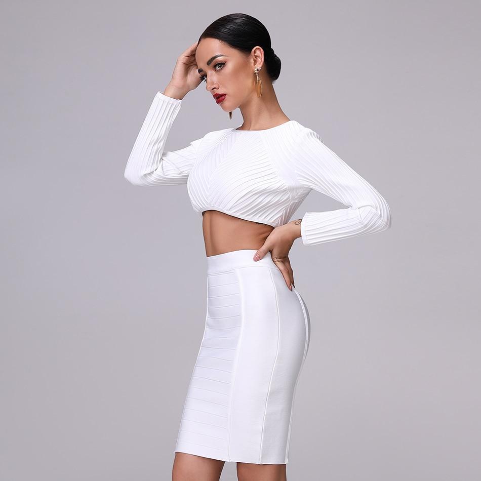 2019 Autumn new women dress long sleeve o neck bandage dress sexy bodycon hollow out dress celebrity party white dresses vestido
