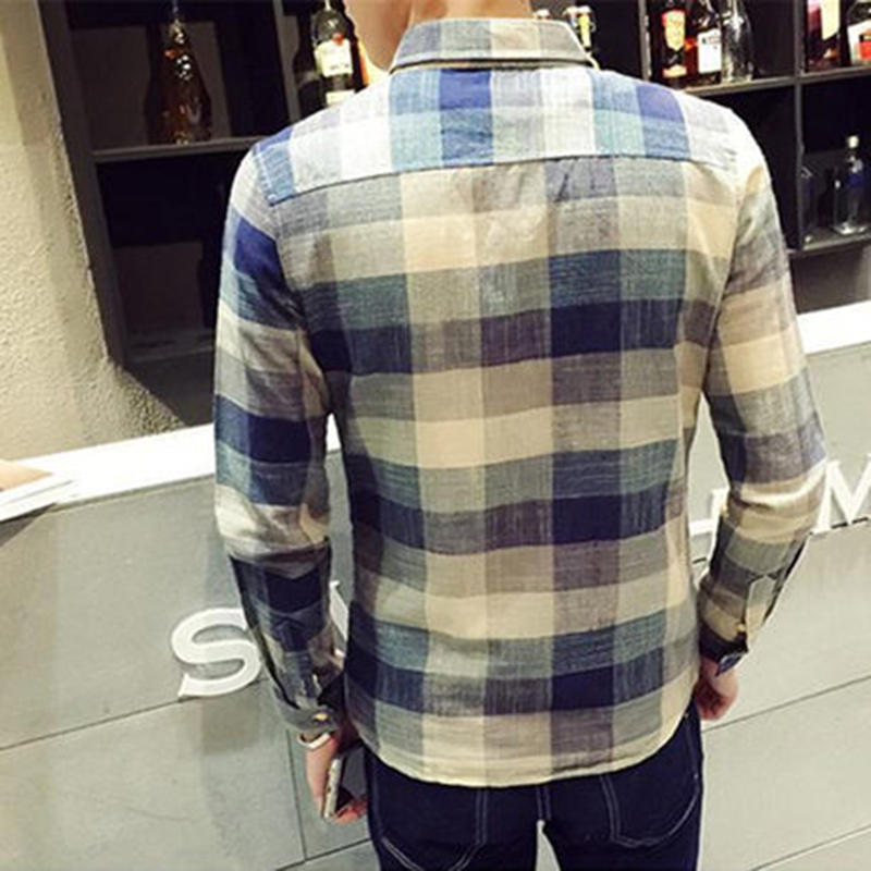 Check Shirts For Men Loose Men Button Up (14)