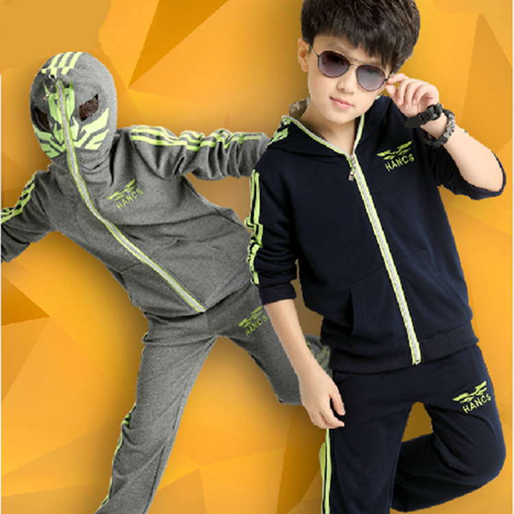 new style children simple pattern shirt pants sports suits clothing set kids child track clothes for