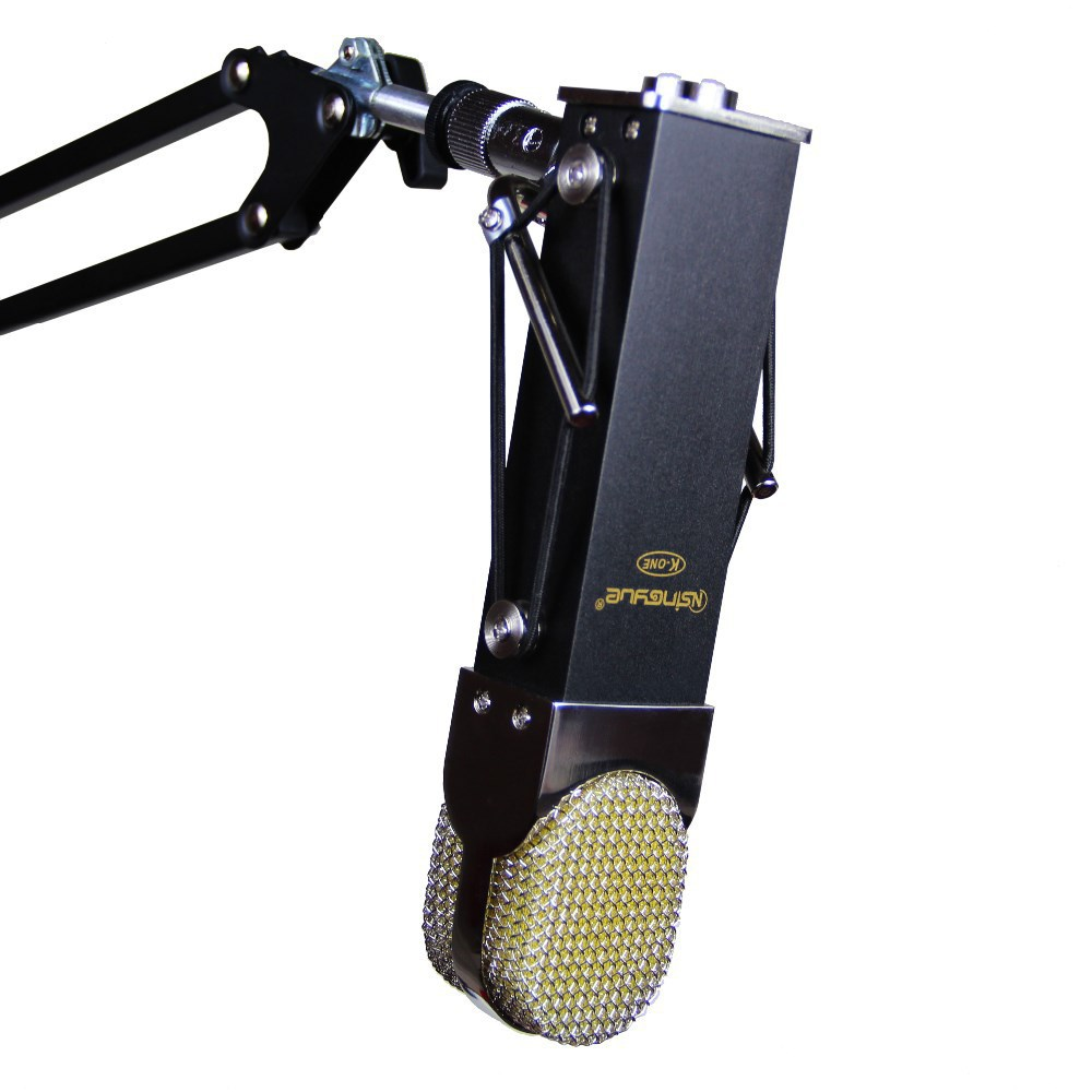 ФОТО Amazing Sound!!!Vogue BLUE style Professional Condenser Microphone + Shock Mount + Cable for Recording & Boarding- BLACK
