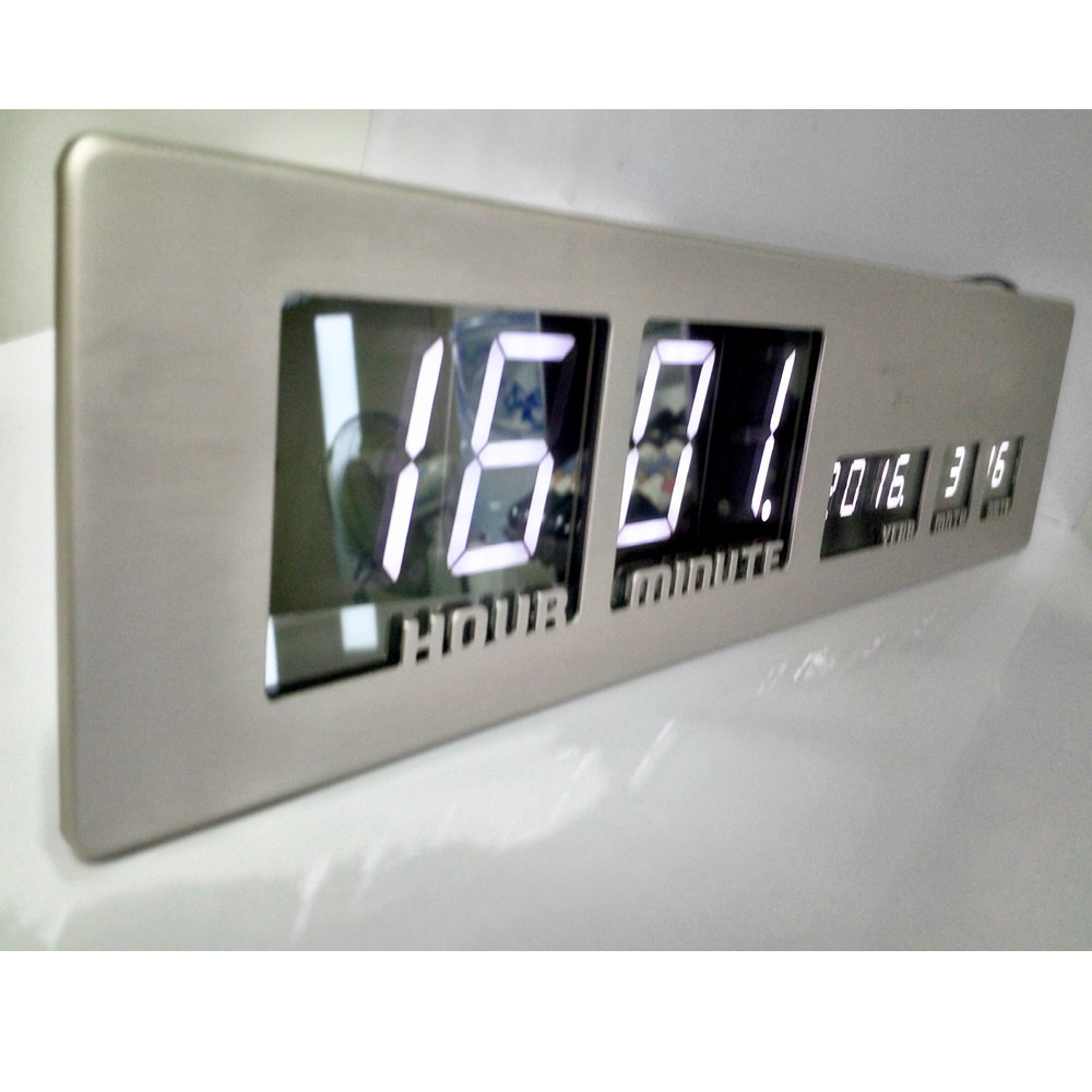 Design Wanduhr Digital dhl free shipping beautiful large led digital wall clock modern