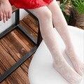 Crianças novas do verão meninas collants 3-12Y Transparente flores floral jacquard padrão meias crianças meias para o bebê meninas