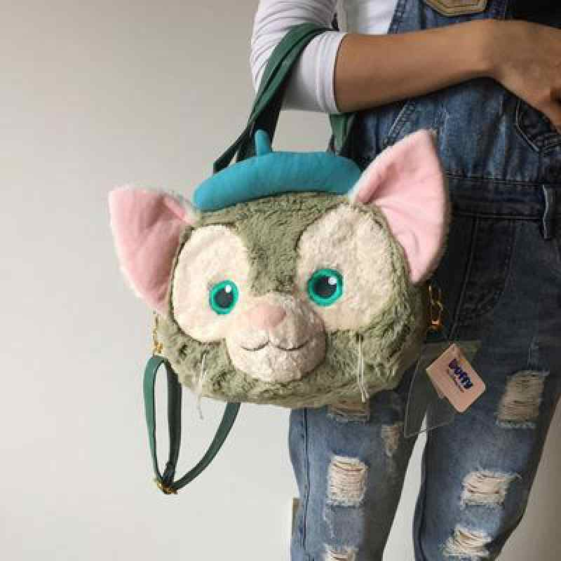 Cute Large Cat Plush Shoulder Bag Duffy Bear Friend Gelatoni Japanese Anime Backpak Best Birthday
