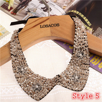 Fashion Women's Sequined Choker Necklaces Jewelry Necklaces Women Jewelry Metal Color: Style 5