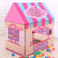 Girls Toy Tent Ball Pit Pool Kid Cute Castle For Outdoor Indoor Sports Game