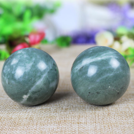 2pcs/lot Natural Massage Jade Stone Hand Ball Rolling Exercise Meditation Stress Relief Fitness Health Healing Reiki Balls 2 sets ball the plum flower jade handball furnishing articles hand bead natural jade health care gifts
