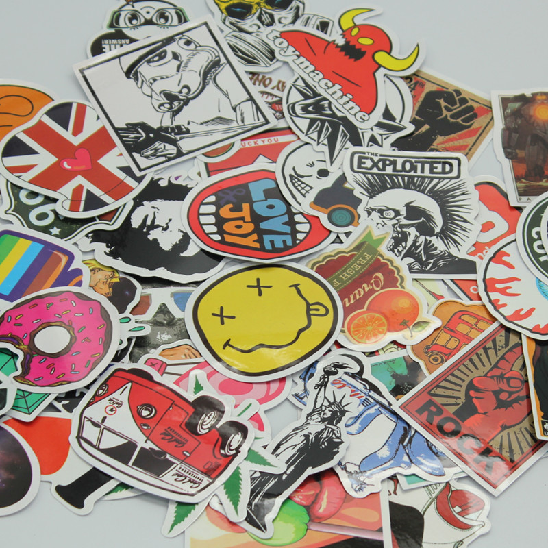 30/50pcs Mixed Random  Stickers For Laptop Sticker Decal Fridge Skateboard PVC Stickers For Travel Suitcase Wall Pencil Box Toy