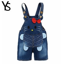 9M-24M Baby Boys Girls Jeans Overalls Shorts Infant Toddlers Kids Denim Rompers Cute Hello Kitty Jumpsuit  For Summer Clothes