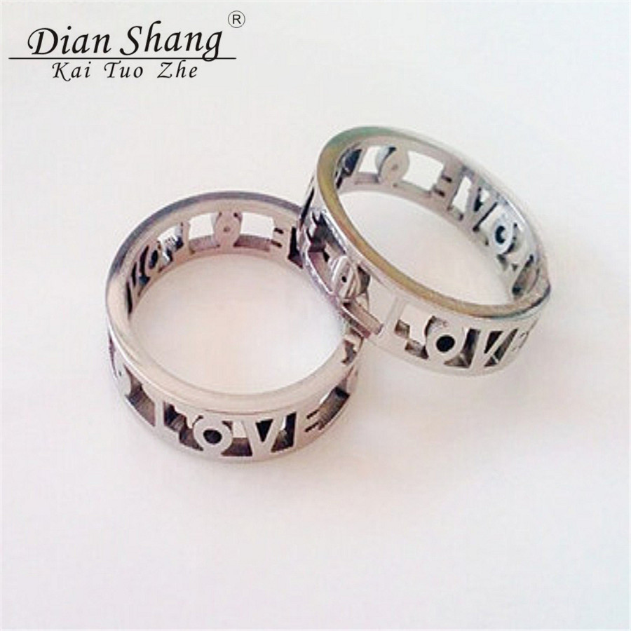 Dianshangkaituozhe Old School Love Wedding Ring Band Stainless Steel Rings For Women Vintage Jewelry Rose Gold Plated Aniilo In From