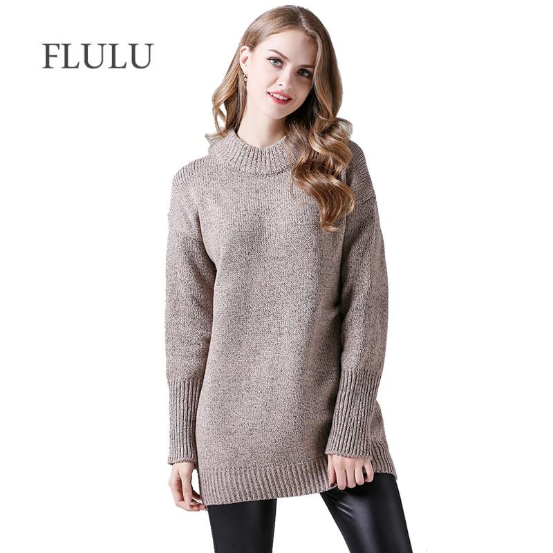 922a6fd94914ba Kopen Goedkoop FLULU Winter Trui Vrouwen 2018 Nieuwe Mode Casual Solid Warm  O hals Vintage Trui Vrouwelijke Elegante Lange Mouwen Gebreide Truien Online