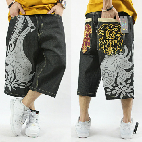 2017 New Designer Plus Size Hip Hop Denim Shorts Mens Loose ...