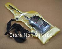 Walkie talkie caso Sacchetto Impermeabile con Cinghia per Motorola Kenwood Icom Yaesu Vertex Standard Baofeng Wouxun Puxing radio bidirezionale