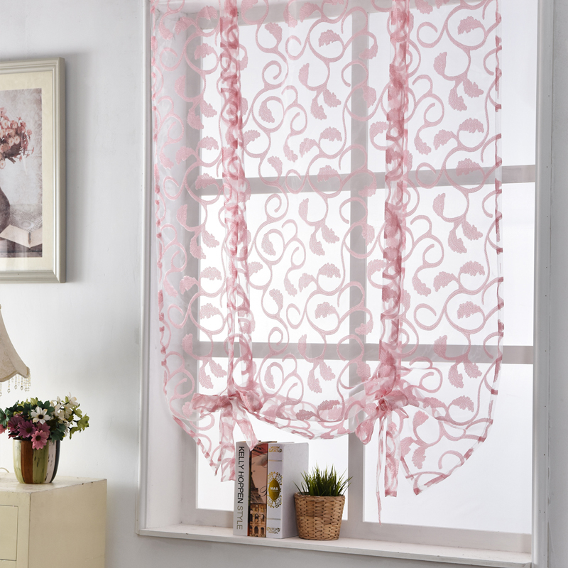 Kitchen Short Curtains Sheer Curtains White Window Treatments Curtain Door  Roman Blinds Jacquard Floral Butterfly Curtains In Curtains From Home U0026  Garden On ...