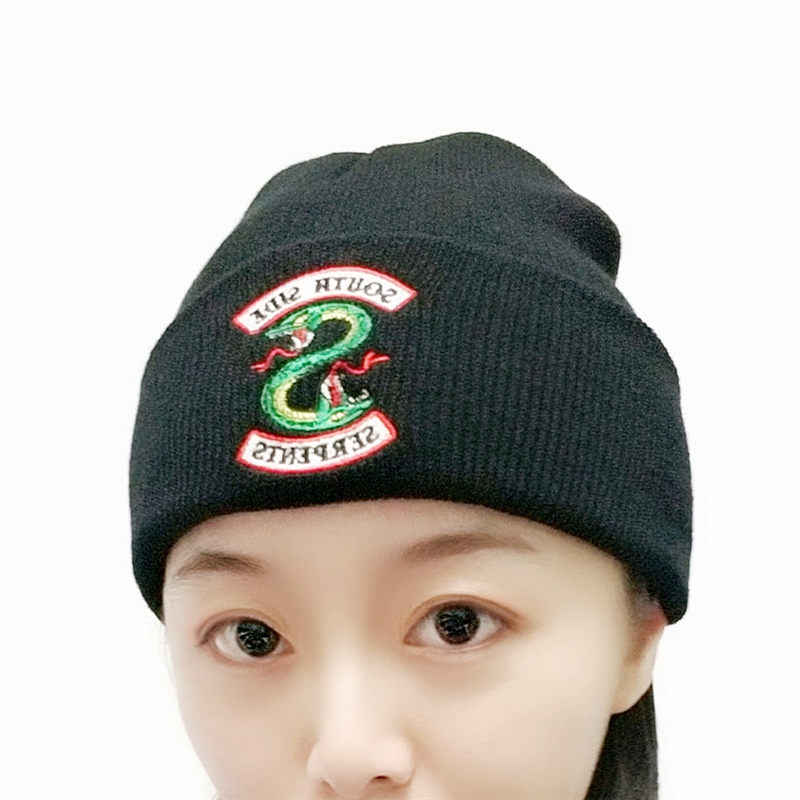 Riverdale Cosplay Beanie Cap Winter Knitted Embroidery Hat Women Men Adult Archie Betty Veronica Cap