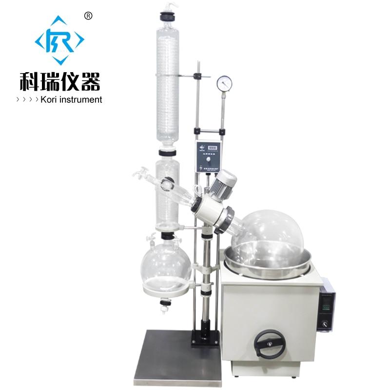 Laboratory High borosilicate GG3.3 vacuum evaporator 20l/ Rotary Evaporators/Rotavap for lab extraction Distillation 300mm 24 29 joint borosilicate glass jacket allihn bulb condenser distillation for laboratory