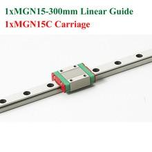 Мини MR15 MGN15 Линейных Направляющих 15 мм Линейный Длина Рельса 300 мм Слайд Стали С MGN15C Блоков ЧПУ