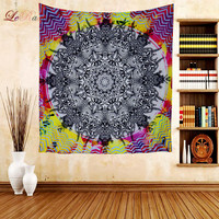 Boho Tapestry Trippy Wall Hangings Soft Linen Psychedelic Tapestry Buddha Home Decor Ceiling Cover Beach Towel Table Cloth