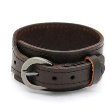 Лидер продаж модные ювелирные изделия кожаный браслет для мужчин