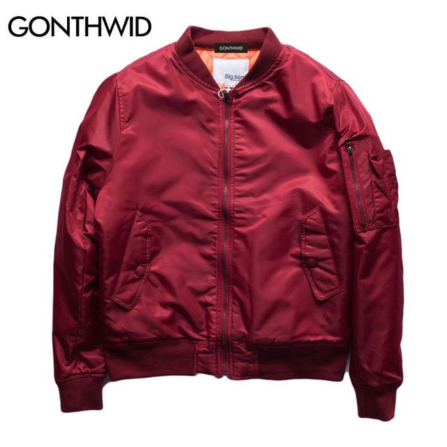 GONTHWID MA1 Bomber chaquetas gruesas para otoño invierno vuelo piloto abrigos  casuales de los hombres f48f2e08d38