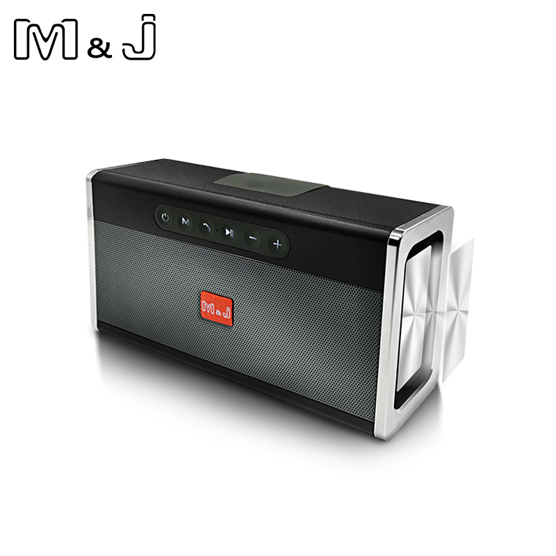 M&J Portable wireless Bluetooth Speaker Stereo big power 10W system TF USB FM Radio Music Subwoofer Column Speakers for Computer цена 2017