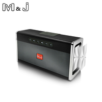 M&J Portable wireless Bluetooth Speaker Stereo big power 10W system TF USB FM Radio Music Subwoofer Column Speakers for Computer