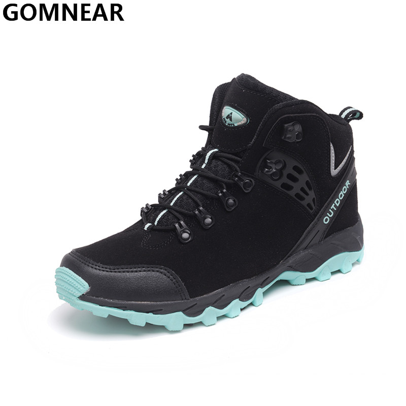 GOMNEAR Men's Popular Hiking Shoes Outdoor Waterproof Hunting Mountain Hiking Boots Breathable Trekking Tourism Climbing Sneaker gomnear winter men s hiking boots outdoor climbing toutism hunting athletic boot trend trekking warm velvet sport shoes for male
