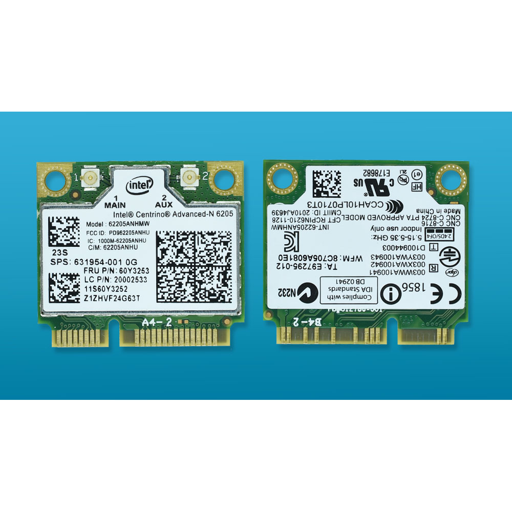 For Intel 6205AN Centrino Advanced-N 6205 62205ANHMW FRU 60Y3253 300M 5G WiFi Wireless Network Card For Thinkpad X220 X230