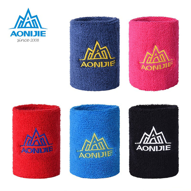 AONIJIE 1 Pair Wristbands Sport Sweatband Hand Band Sweat Wrist Support Brace Wraps Guards For Gym Volleyball Basketball