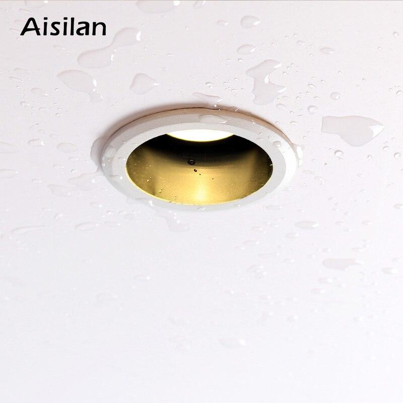 Aisilan encastré LED nordique étanche Downlight Angle réglable intégré LED Spot lumière AC90-260V 5 W pour l'éclairage intérieur