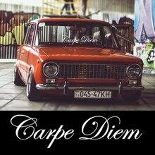 CS-1336#60*15cm Carpe Diem funny car sticker vinyl decal white/black for auto car stickers styling