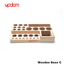 Original Vpdam E Cigarette Wooden Base Stand Vape Holder for Electronic Cigarette E Cig Accessories elektronik sigara Vaper Tool(China)