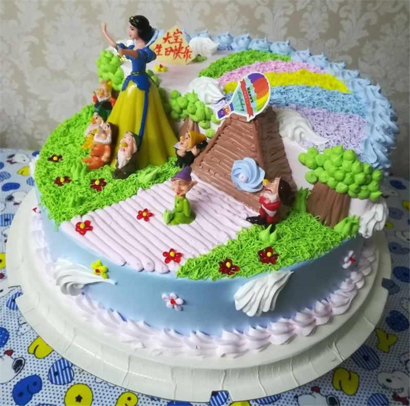 צעצועי ילדה נסיכת יום הולדת עוגת טופר ילדי ילד ילדה יום הולדת מתנת עוגת קישוט שלג לבן המפלגה טובות cupcake toppers