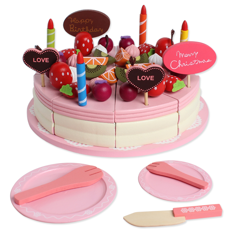 Get This Baby Toys Kids Birthday Cream Cake Wooden Toys Magnetic