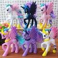 14 cm model collection toy crianças presente anime modelo funko pop linda Rainbow Unicorn Cavalo Princesa Luna PVC Poni Brinquedos Para meninas