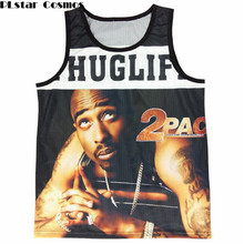 5773223d6af PLstar Cosmos New men's summer Tank tops 3D print Tupac 2Pac/Biggie Smalls  Breathable vest