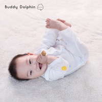New 2Pcs Lot Baby Clothing Sets Newborn Baby Rompers Infant Boy Girls Soft Cotton Sleepsuit Long