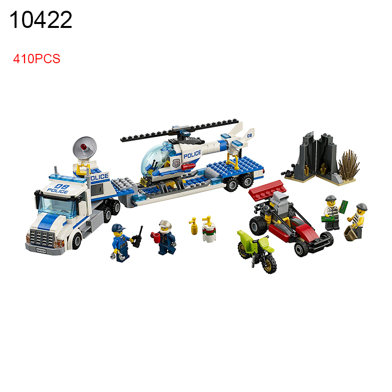 10422 410Pcs City series Helicopter transport team Model Building Blocks DIY Bricks Toys For Children Gift Compatible 60049 sermoido 02012 774pcs city series deep sea exploration vessel children educational building blocks bricks toys model gift 60095