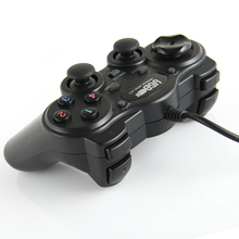 Wired USB Dual Vibration Joystick for Windows PC