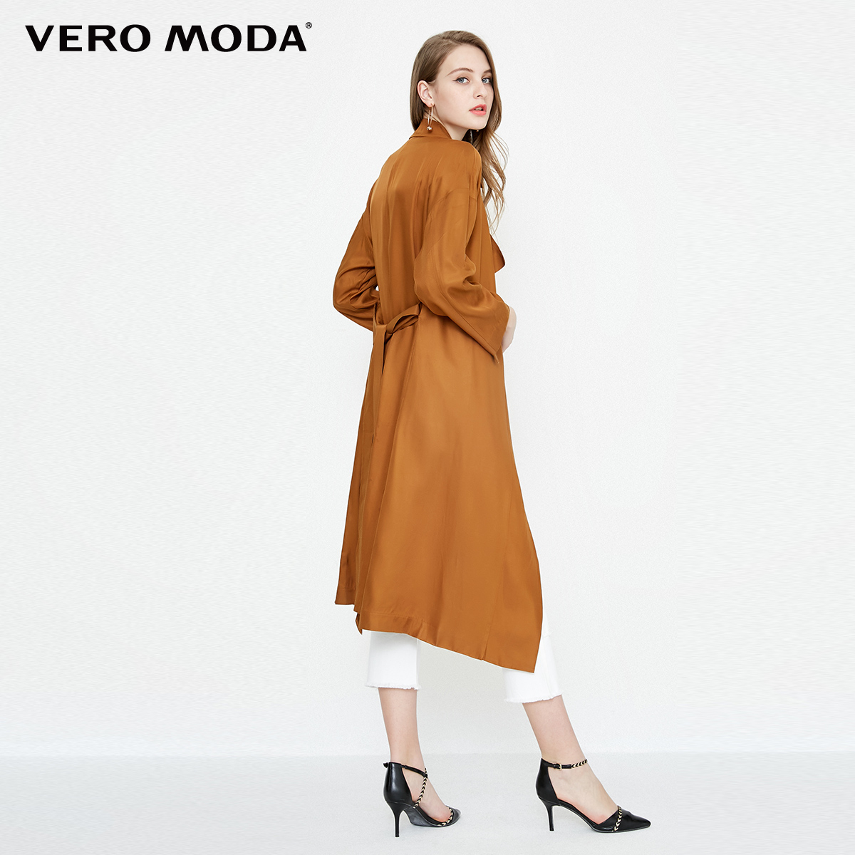 Vero Moda Two way Sleeves Lapel Medium Length Wind Coat  318121536-in Trench from Women's Clothing    3
