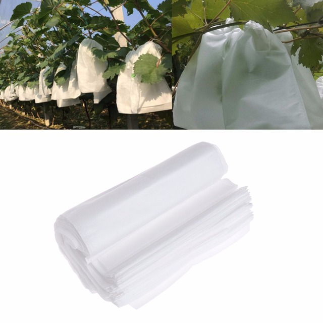 50pcs Garden Vegetable Grapes Apples Fruit Protection Bag Pouch Agricultural Pest Control Anti-Bird Mesh Bags 3-Size C42