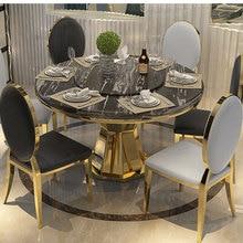 Набор столовой из нержавеющей стали, мебель для дома, минималистичный современный стеклянный обеденный стол и 6 стульев, mesa de jantar muebles comedor