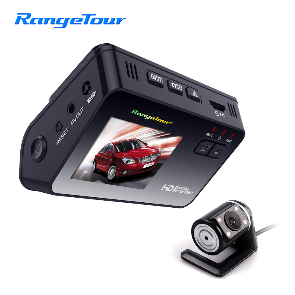Car DVR Dashboard Camera B10 Dual Lens Front 1080P and Rear 480P Dash Cam Driving Video