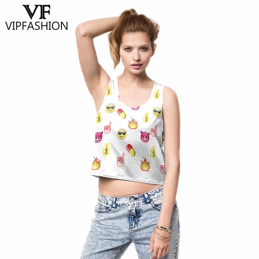 VIP FASNHION 新着クロップトップ女の子女性漫画女性プリントタンクトップ混合コミックジングル猫カラフルなノースリーブ Tシャツベスト