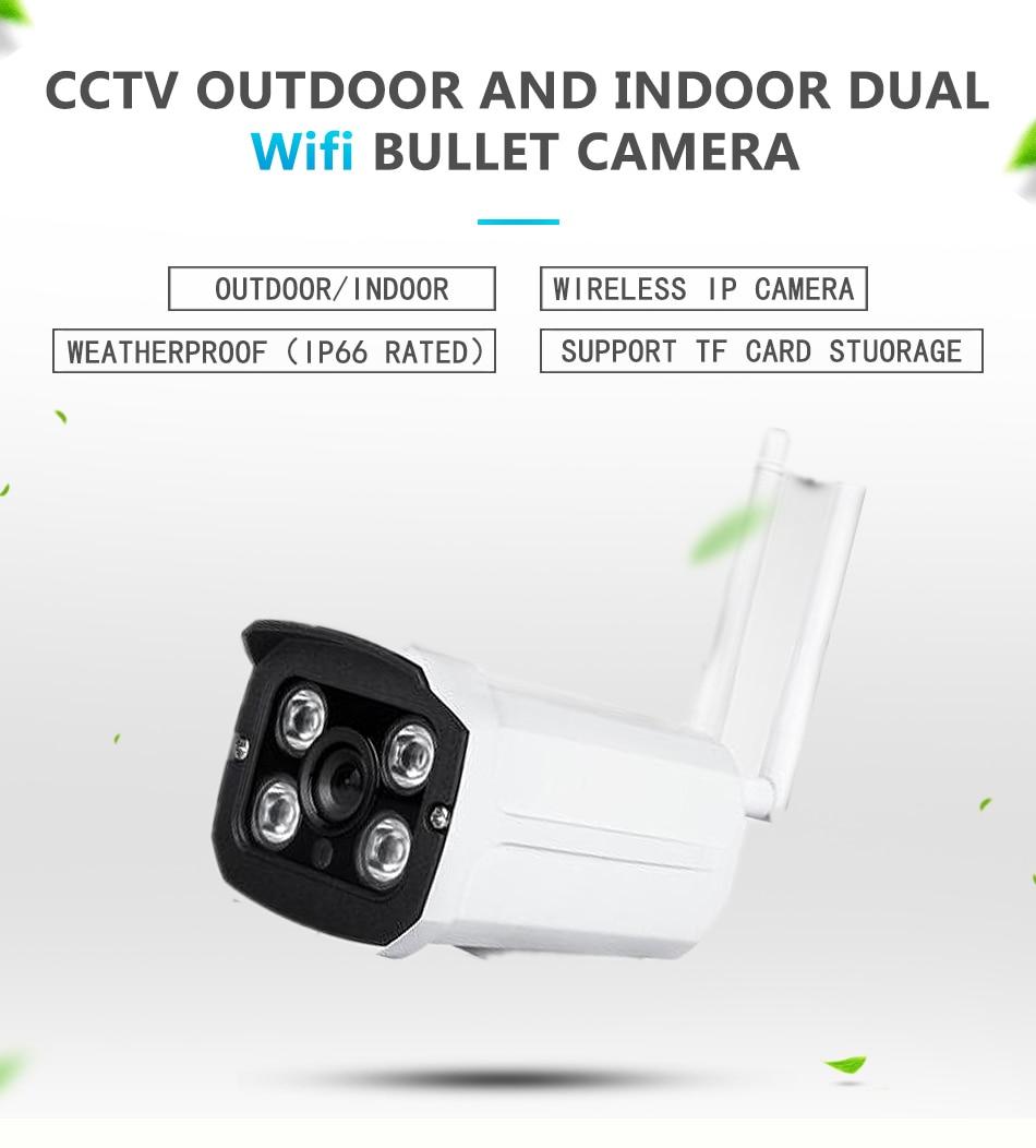 1080P HD Wireless CCTV IP Camera Mini Bullet WIFI IRCUT Camera Outdoor  waterproof Surveillance Security 2 0MP Camera Yoosee APP