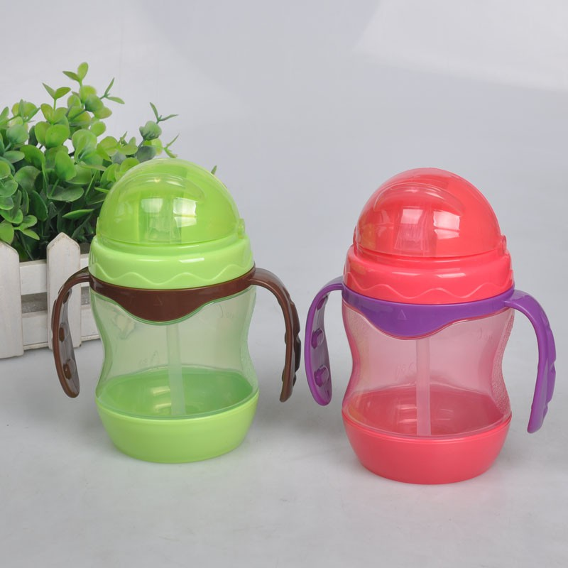 Learn Feeding Drinking Water Straw Handle Cup Cute Baby Children Training Cup Boy Girl Feeding Cup ...