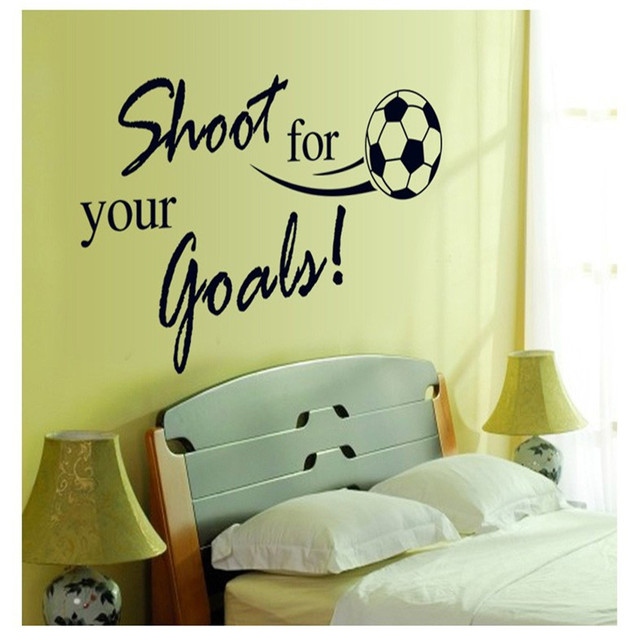Personalized Football Wall Sticker Sports Boys Bedroom Footballer ...